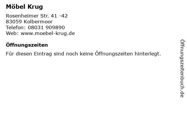 ᐅ Offnungszeiten Mobel Krug Rosenheimer Str 41 42 In Kolbermoor