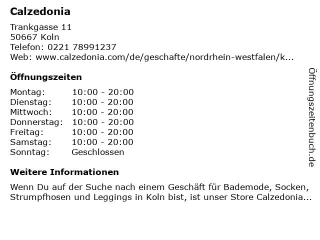 Calzedonia in Koln: Adresse und Öffnungszeiten