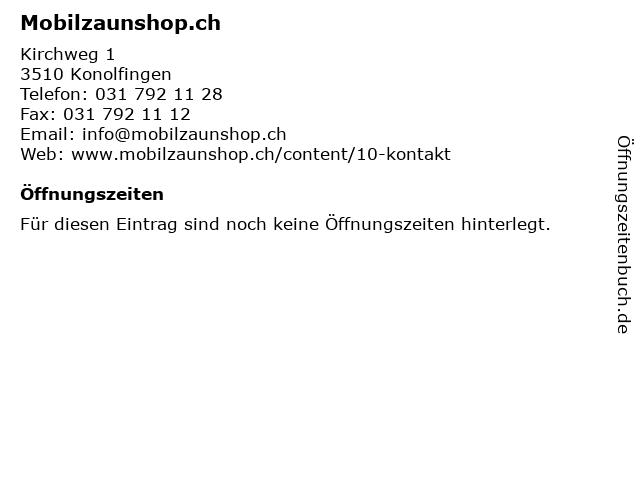 Mobilzaunshop.ch in Konolfingen: Adresse und Öffnungszeiten