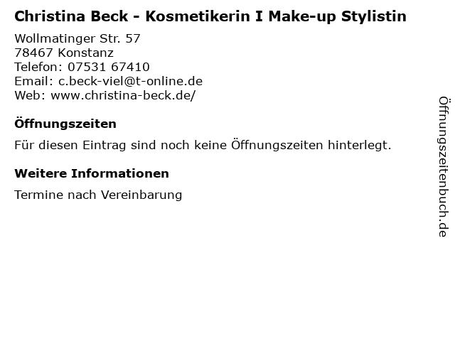 Christina Beck - Kosmetikerin I Make-up Stylistin in Konstanz: Adresse und Öffnungszeiten