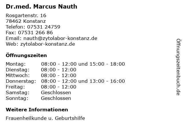 Dr.med. Marcus Nauth in Konstanz: Adresse und Öffnungszeiten