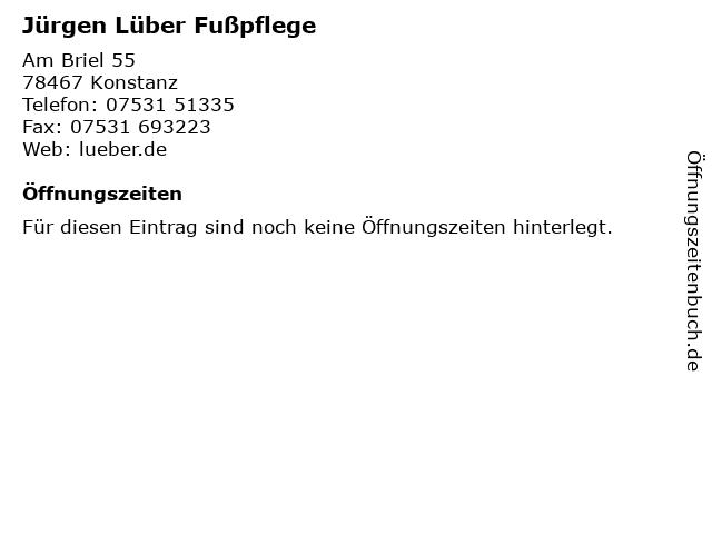Jürgen Lüber Fußpflege in Konstanz: Adresse und Öffnungszeiten