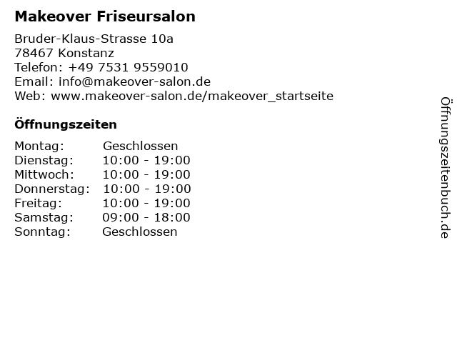 Makeover Friseursalon in Konstanz: Adresse und Öffnungszeiten