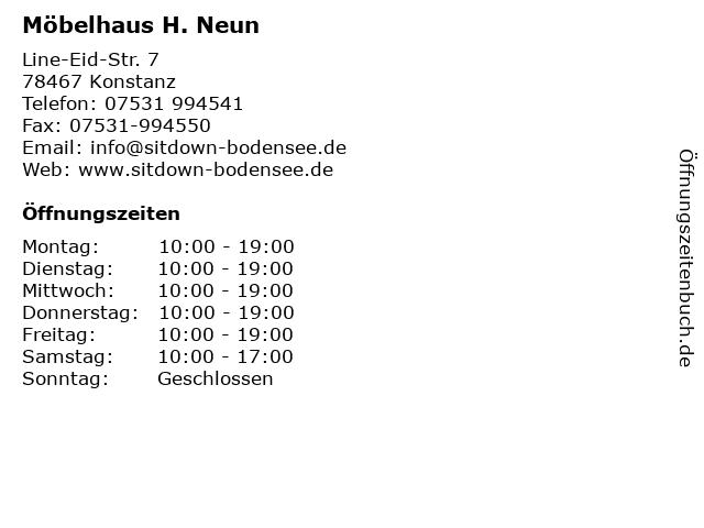 ᐅ öffnungszeiten Möbelhaus H Neun Line Eid Str 7 In Konstanz