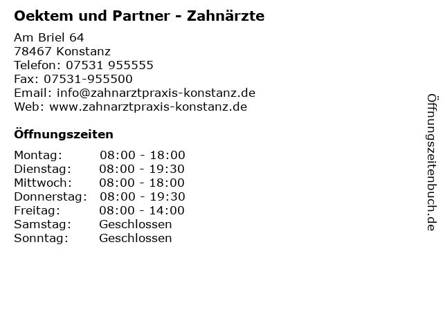 Oektem und Partner - Zahnärzte in Konstanz: Adresse und Öffnungszeiten