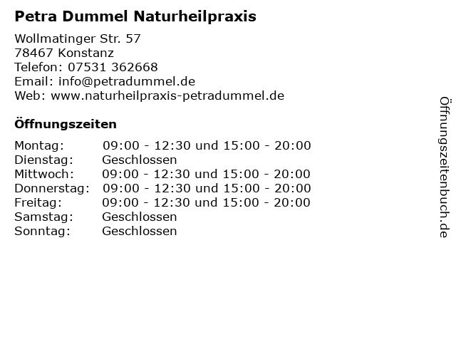 Petra Dummel Naturheilpraxis in Konstanz: Adresse und Öffnungszeiten