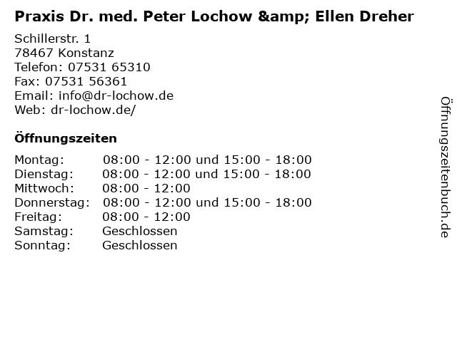 Praxis Dr. med. Peter Lochow & Ellen Dreher in Konstanz: Adresse und Öffnungszeiten