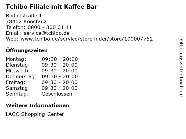 Tchibo GmbH in Konstanz: Adresse und Öffnungszeiten