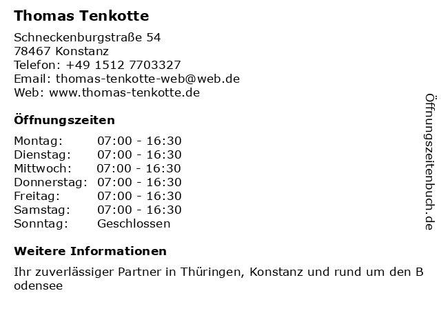 Thomas Tenkotte in Konstanz: Adresse und Öffnungszeiten