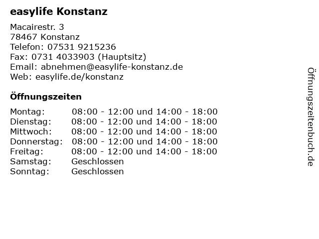 easylife Konstanz in Konstanz: Adresse und Öffnungszeiten