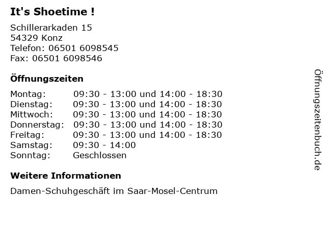 It's Shoetime ! in Konz: Adresse und Öffnungszeiten