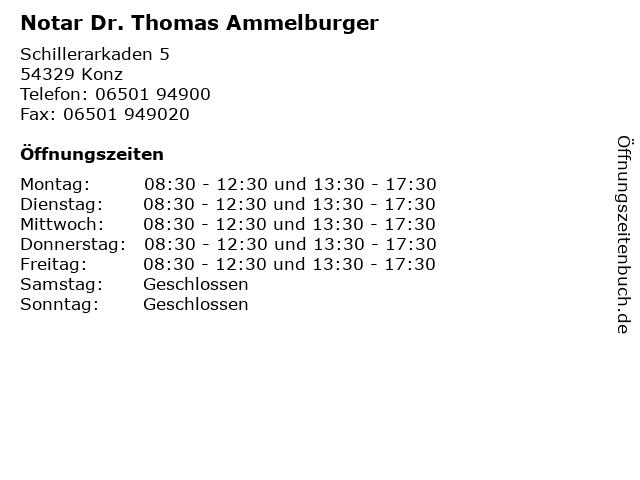 Notar Dr. Thomas Ammelburger in Konz: Adresse und Öffnungszeiten