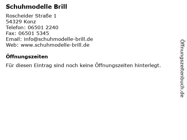Schuhmodelle Brill in Konz: Adresse und Öffnungszeiten