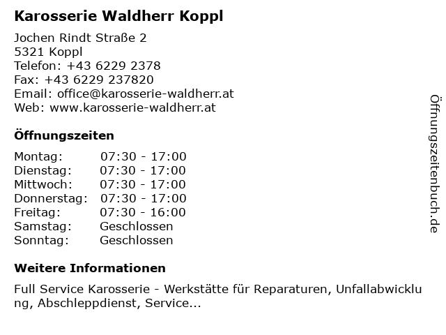 Waldherr Karosserie GmbH in Koppl: Adresse und Öffnungszeiten