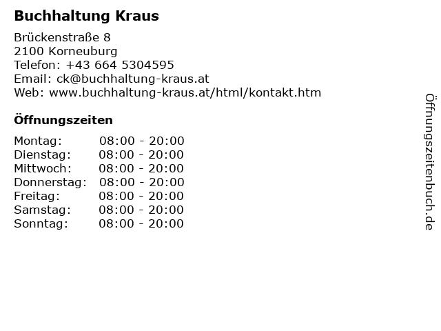 Buchhaltung Kraus in Korneuburg: Adresse und Öffnungszeiten