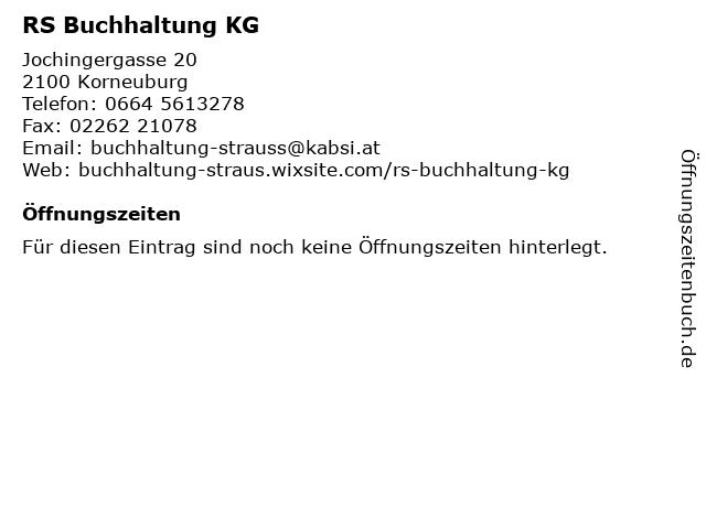 RS Buchhaltung KG in Korneuburg: Adresse und Öffnungszeiten
