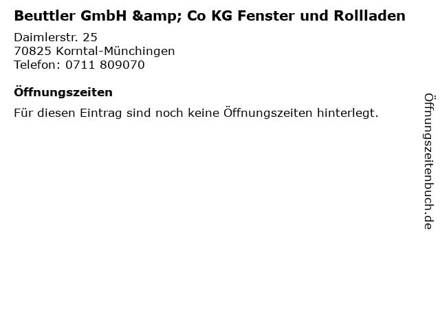 Beuttler GmbH & Co KG Fenster und Rollladen in Korntal-Münchingen: Adresse und Öffnungszeiten