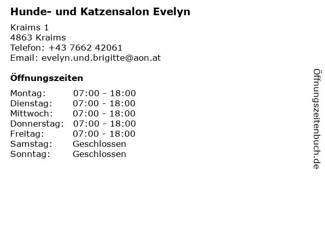 Hunde- und Katzensalon Evelyn in Kraims: Adresse und Öffnungszeiten