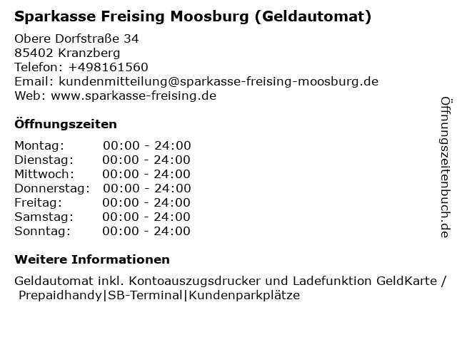 ᐅ öffnungszeiten Sparkasse Freising Geschäftsstelle Kranzberg