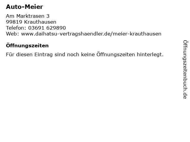 Auto-Meier in Krauthausen: Adresse und Öffnungszeiten