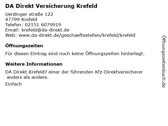 ᐅ Offnungszeiten Da Direkt Uerdinger Str 122 In Krefeld