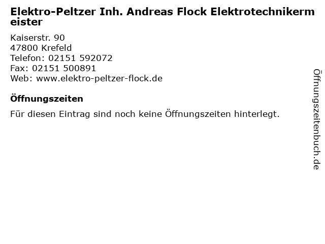 Elektro-Peltzer Inh. Andreas Flock Elektrotechnikermeister in Krefeld: Adresse und Öffnungszeiten