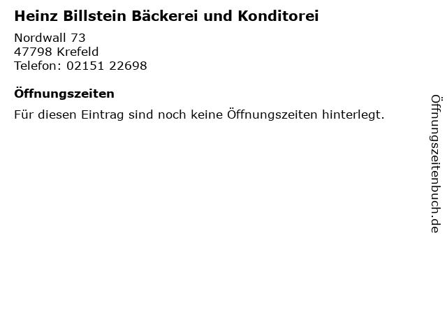 Heinz Billstein Bäckerei und Konditorei in Krefeld: Adresse und Öffnungszeiten