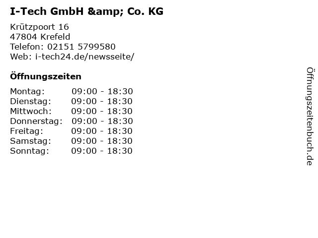 I-Tech GmbH & Co. KG in Krefeld: Adresse und Öffnungszeiten