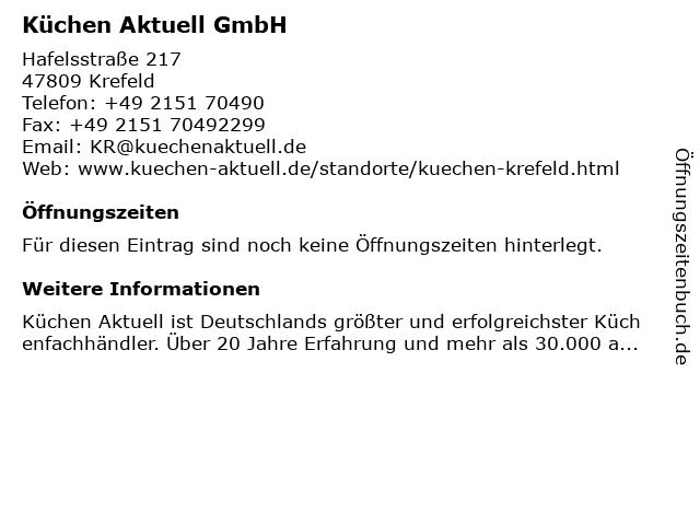 ᐅ Offnungszeiten Kuchen Aktuell Gmbh Hafelsstrasse 217 In Krefeld