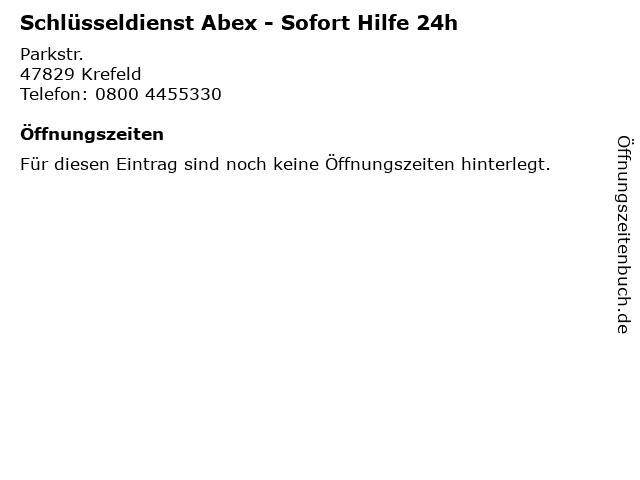 Schlüsseldienst Abex - Sofort Hilfe 24h in Krefeld: Adresse und Öffnungszeiten