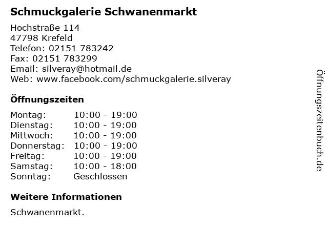 Schmuckgalerie Schwanenmarkt in Krefeld: Adresse und Öffnungszeiten