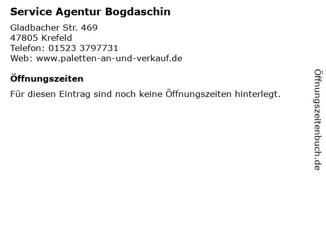 Service Agentur Bogdaschin in Krefeld: Adresse und Öffnungszeiten