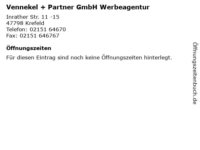 Vennekel + Partner GmbH Werbeagentur in Krefeld: Adresse und Öffnungszeiten