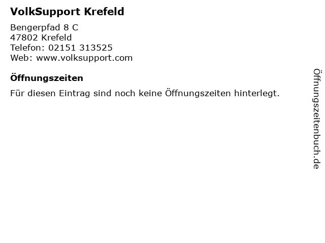 VolkSupport Krefeld in Krefeld: Adresse und Öffnungszeiten