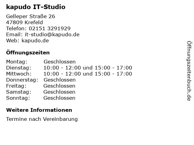 kapudo IT-Studio in Krefeld: Adresse und Öffnungszeiten