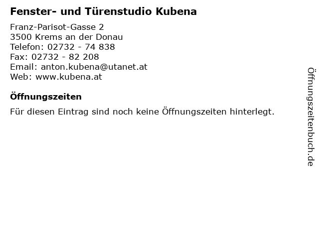 Fenster- und Türenstudio Kubena in Krems an der Donau: Adresse und Öffnungszeiten