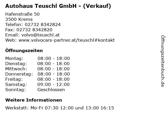 Autohaus Teuschl GmbH - (Verkauf) in Krems: Adresse und Öffnungszeiten