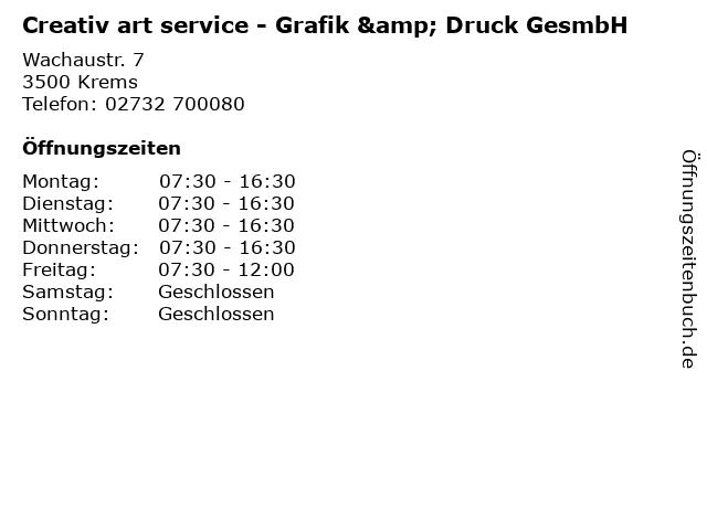 Creativ art service - Grafik & Druck GesmbH in Krems: Adresse und Öffnungszeiten