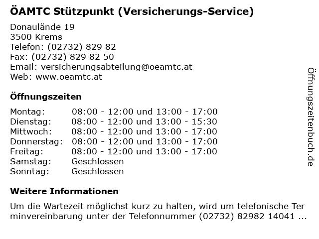 ÖAMTC Stützpunkt (Versicherungs-Service) in Krems: Adresse und Öffnungszeiten