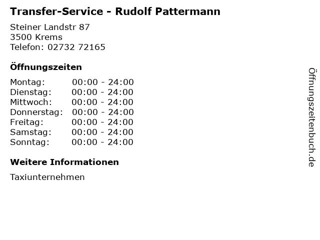 Transfer-Service - Rudolf Pattermann in Krems: Adresse und Öffnungszeiten
