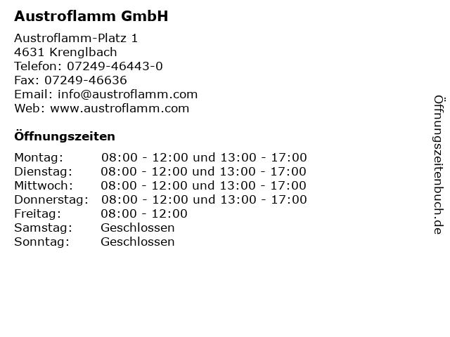 Austroflamm GmbH in Krenglbach: Adresse und Öffnungszeiten