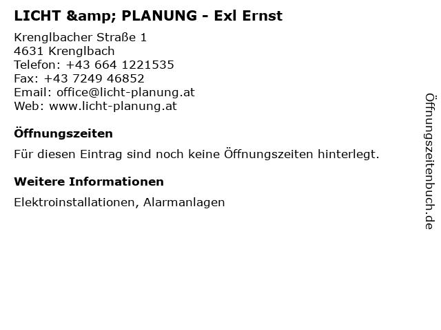LICHT & PLANUNG - Exl Ernst in Krenglbach: Adresse und Öffnungszeiten