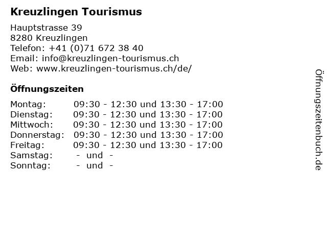 Kreuzlingen Tourismus in Kreuzlingen: Adresse und Öffnungszeiten