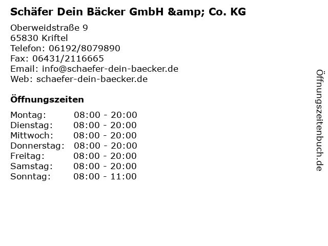 Schäfer Dein Bäcker GmbH & Co. KG in Kriftel: Adresse und Öffnungszeiten