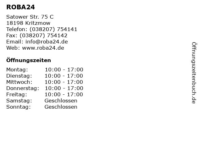 ROBA24 in Kritzmow: Adresse und Öffnungszeiten