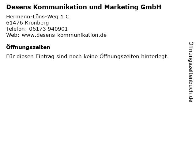 Desens Kommunikation und Marketing GmbH in Kronberg: Adresse und Öffnungszeiten