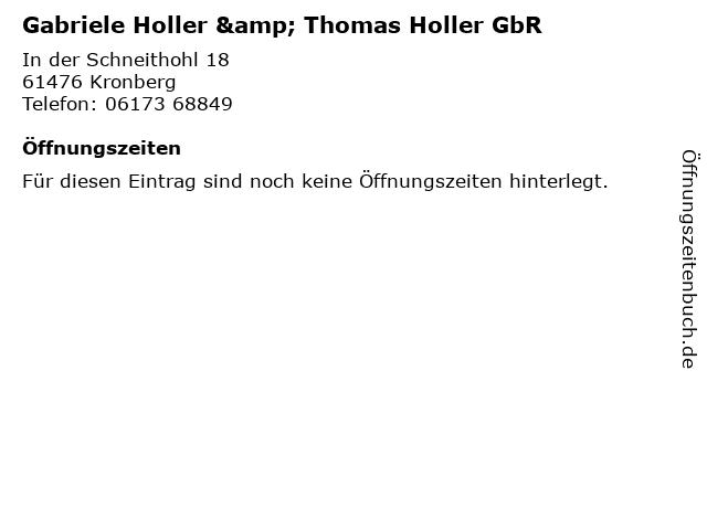 Gabriele Holler & Thomas Holler GbR in Kronberg: Adresse und Öffnungszeiten
