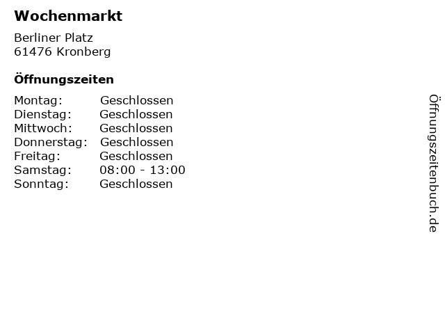 Wochenmarkt in Kronberg: Adresse und Öffnungszeiten
