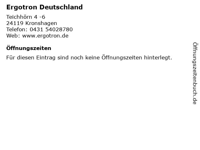 Ergotron Deutschland in Kronshagen: Adresse und Öffnungszeiten
