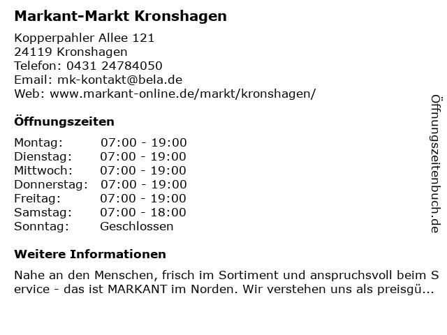Markant-Markt Kronshagen in Kronshagen: Adresse und Öffnungszeiten